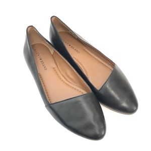 Lucky Brand ARRCH Black Leather Flats